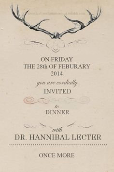 Hannibal Season 2 Invite