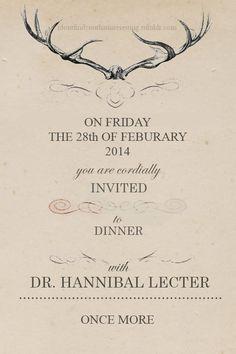 Hannibal Season 2 Invite