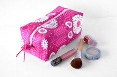 Pink Toiletry Bag by sewandtellhandmade
