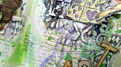 Mixed Media Art Journal Layout: Tea with the White Rabbit by Kate's Scrap Yard