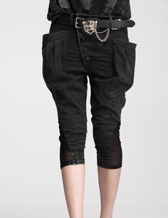High Quality New Splicing Single-breasted Pants