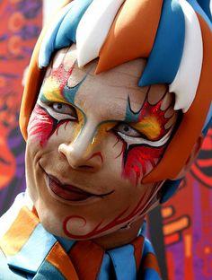 Face painting - Cirque du Soleil KOOZA #circus