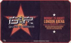 Guns N' Roses @LondonArena - August 26, 2002 - First time seeing Axl live after 9 years. It was a shame that the original band line up were gone, but the new gang did well and Axl still Rocked It!!  Awesome to enjoy Weezer's full set as the support act too! with -Ben Cross, Paul Cook & Ashley Goodman :)