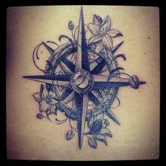 Girly Compass Tattoo | Compass Tattoo I Love It Cool Tats