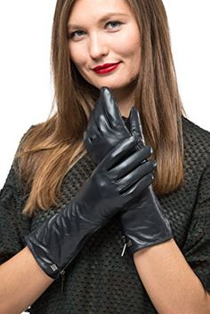 Long Sleeve Leather Zipper Gloves For Women, Touchscreen Cold Weather Long Sleeve Gloves – With Thinsulate Liner Review Leather Gauntlet, Gloves Fashion, Cold Weather Gloves, Black Leather Gloves, Leather Pants, Long Gloves, Fashion Beauty, Sexy, Brunettes