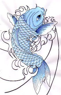 Blue Koi Fish Meaning | Fish Tattoo Meanings | Pictures| Images | Graphics