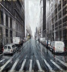 Blurred Cityscapes Paintings by Valerio D'Ospina