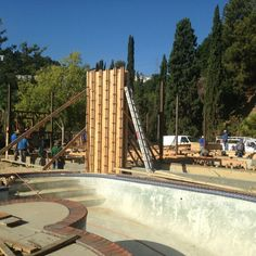 Busy day at Wrightwood. Poured in place structural concrete #walls to hold steel beams in place.  #MondayMotivation