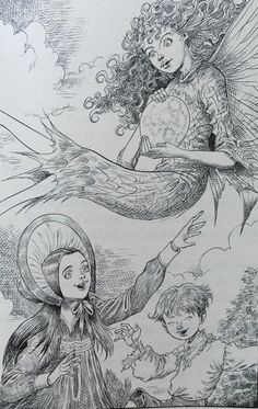 Chris Riddell illustration from Neil Gaiman's 'Coraline'