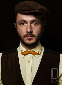Wooden handmade, unique and exclusive bow tie by OLLY | Patron292403 - Clothing on ArtFire