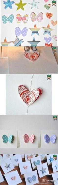 Handmade sewing birthday cards DIY graphic