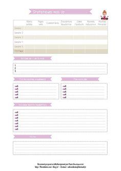 Fiche carnet blogueuse organisée, les statistiques du mois