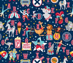 Circus Alphabet fabric by cjldesigns on Spoonflower - custom fabric