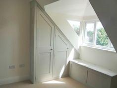 diy closet door angled ceiling - Google Search