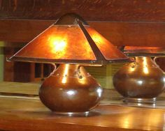 Dirk van Erp Hammered Copper & Mica Three-Panel Lamp c1911-1912. Excellent original patina and original mica. Signed with closed-box mark. 19″d x 16″h $45,000