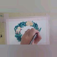 Watercolor wreath Wreath Watercolor, Christmas Wreaths, Creative, Inspiration, Biblical Inspiration, Inspirational, Inhalation