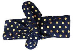 Headband (Navy & Gold)