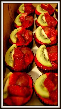 fruit mini cheesecakes