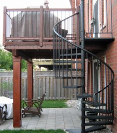Stair Option For Deck Rebuild.Would Be Good As An Option To Get From The  Deck To The Lower Back Yard. Also I Like That It Has A Rail At The Top For  ...