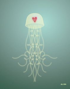 Love this take on a jellyfish. Would make for a great tattoo.