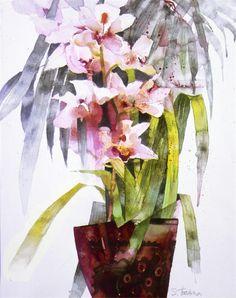 Expresivní akvarel zátiší Shirley Trevena - Fair Masters - ruční práce, ruční práce