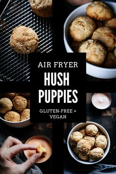 I'm heading back to my Southern roots with this healthy air fryer spin on Hush Puppies! They are super tasty, easy to make + gluten-free & vegan. #hushpuppies #airfryerhushpuppies #glutenfreehushpuppies #veganhushpuppies