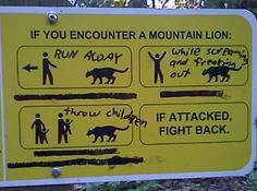 smart-ass responses to completely well-meaning signs