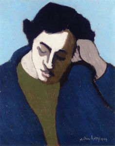 'Reverie' 1949 : Milton Avery, American Abstract painter known as a great colorist