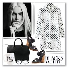 """""""Black & White Polka Dots"""" by ldtrollinger ❤ liked on Polyvore featuring Vince, Louis Vuitton, Moon and Lola and STELLA McCARTNEY"""