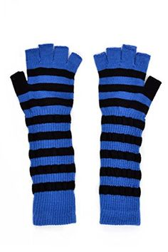 striped fingerless arm warmers