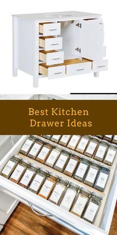 DIY Kitchen Drawer Ideas #kitcendecor #drawers Drawer Inspiration, New Kitchen, Kitchen Ideas, Drawer Design, Room Additions, Kitchen Drawers, Cool Kitchens, Diy Home Decor, Drawer Ideas