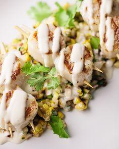 Grilled Scallops & Corn Salsa