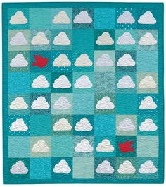 Blue Skies Ahead by Adrienne Smitke, from: Quilting with Fat Quarters ~ by The Staff at That Patchwork Place
