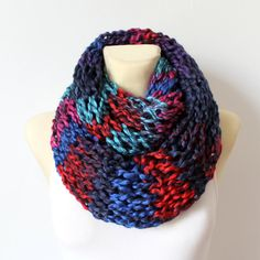 This super chunky knit scarf is perfect for Winter. It has been made using finger knitting technique and that's why it is very airy and cozy. Check Locotrends Etsy shop to see more colors and scarves designs or favorite this item to save it for later for your Christmas shopping!   by LocoTrends