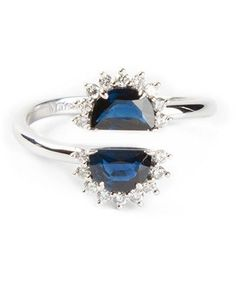 50 Unique Engagement Rings For The Offbeat Bride Similar to Kate Middleton's stunner, but with a twist. split ring, $6,383.27, maison martin margiela