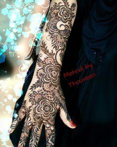 @thouseens_henna Full Mehndi Designs, Modern Henna Designs, Khafif Mehndi Design, Latest Bridal Mehndi Designs, Finger Henna Designs, Simple Arabic Mehndi Designs, Mehndi Designs For Girls, Mehndi Design Pictures, Wedding Mehndi Designs