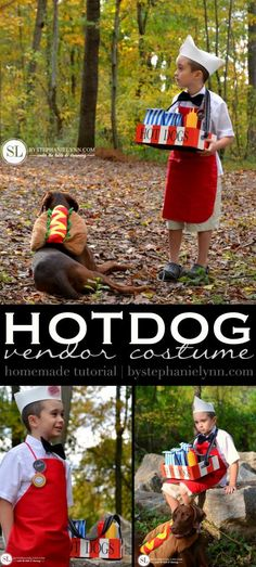Hot Dog Vendor Costume | Homemade Halloween #michaelsmakers @bystephanielynn