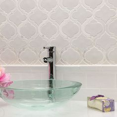 Nabi Glacier White ceramic and marble tile, it doesn't get any better than this…