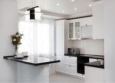 Как вы думаете , сколько квадратных метров эта кухня ?   Свой вариант пишите в комментариях!👇 Open Plan Kitchen Living Room, Kitchen On A Budget, Kitchen Sets, Kitchen Interior, Kitchen Decor, L Shaped Kitchen Designs, Urban Kitchen, Home Kitchens, Bungalow