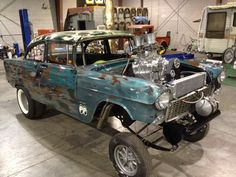 Welder up and she's ready to go - '55 Chevy gasser