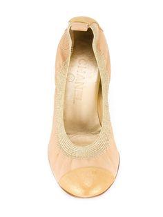 Chanel Vintage туфли-лодочки с эластичной отделкой