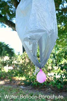 DIY Water Balloon Parachute Summer Outdoor Activity for Kids