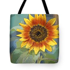 "Sunflower Fun Tote Bag 18"" x 18"" by Flamingo Graphix John Ellis"