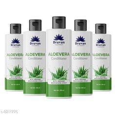 Conditioner Druvan Cosmetic Aloevera Conditioner For Hair Growth pack of 5 (250ml)  Product Name: Druvan Cosmetic Aloevera Conditioner For Hair Growth pack of 5 (250ml)  Brand Name: Druvan Cosmetic Hair Type: All Hair Type Flavour: Aloe Vera Multipack: 5 Country of Origin: India Sizes Available: Free Size   Catalog Rating: ★4.1 (294)  Catalog Name: Druvan Cosmetic Sensational Natural Conditioner CatalogID_1368165 C166-SC2040 Code: 514-8211775-5991