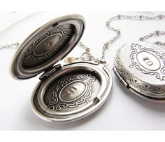 I absolutely would love one of these! {Personalized Locket Necklace} Sora Designs