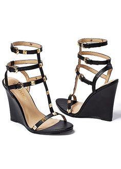 bf2f93d4a550 Studded gladiator wedge. Gladiator wedges sandalsShoes ...