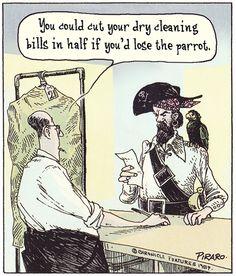 Bizarro Pirate Dry Cleaners 1989