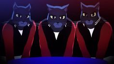 A group of cats go to a strip club and things quickly escalate into a Multi-Species Carnage Warning in this animated music video for Caravan Palace's song Lone Digger (2015).