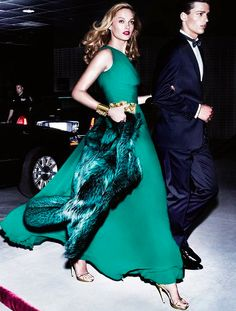 Dazzle your date in this Emerald Green Number