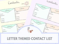 Letter Themed Contact List | www.sweetestchelle.com Contact List, Map, Lettering, Blog, Location Map, Drawing Letters, Texting, Maps